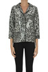 Sequined animal print jacket ITMFL