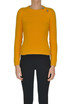 Cropped angora wool-blend pullover N.21