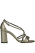 Metallic effect leather sandals Bottega Veneta