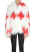 Bicoloured lamb fur jacket Saks Potts