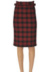 Checked print pencil skirt RED Valentino