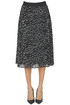 Polka dot print pleated skirt Joseph Ribkoff
