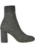 Metallic effect knit ankle-boots Maliparmi
