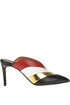 Color block leather mules Laurence Decade