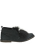 Fur insert suede shoes Pokemaoke