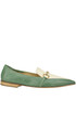 Two-coloured leather mocassins Viola Ricci