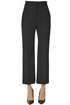 Cropped wool-blend trousers Alberta Ferretti
