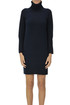 Extra fine knit turtleneck dress Base Milano