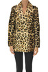 Animal print fur caban Parfurs