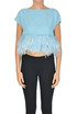 Cropped top with feathers Patrizia Pepe