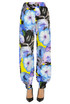 Flower print cotton trousers MSGM
