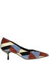 Printed velvet pumps Ncub