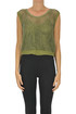 Embellished cut-out knit top Ermanno Scervino