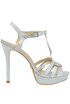 Glittered leather sandals Schutz