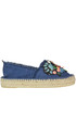 Embellished denim espadrillas Colors of California