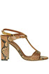 Reptile effect leather sandals L'Autre Chose
