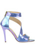 Iridescent leather sandals Cardiff