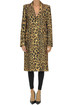 Animal print wool-blend coat Paco Rabanne