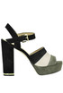 Anise striped suede sandals Michael Michael Kors