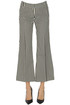 Striped cropped cotton trousers Keyfit