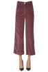 Cropped corduroy trousers Shaft