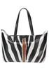Zebra-striped rubber bag GUM Gianni Chiarini