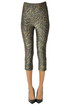 Animal print lamè fabric leggings Ganni