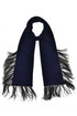 Scarf with feathers N.21