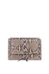 Python leather shoulder bag Orciani