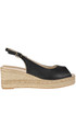 Leather wedge sandals Carmen Saiz