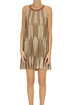 Pleated knit mini dress D.Exterior