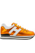 H222 metallic effect leather sneakers Hogan