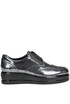 Metallic effect leather brogues shoes Hogan