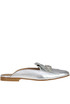 Metallic effect leather mules Vivian