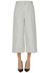 Striped cotton cropped trousers Dondup