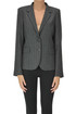 Pinstriped wool-blend blazer I.C.F.