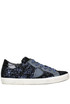 Paris glittered leather velvet sneakers Philippe Model