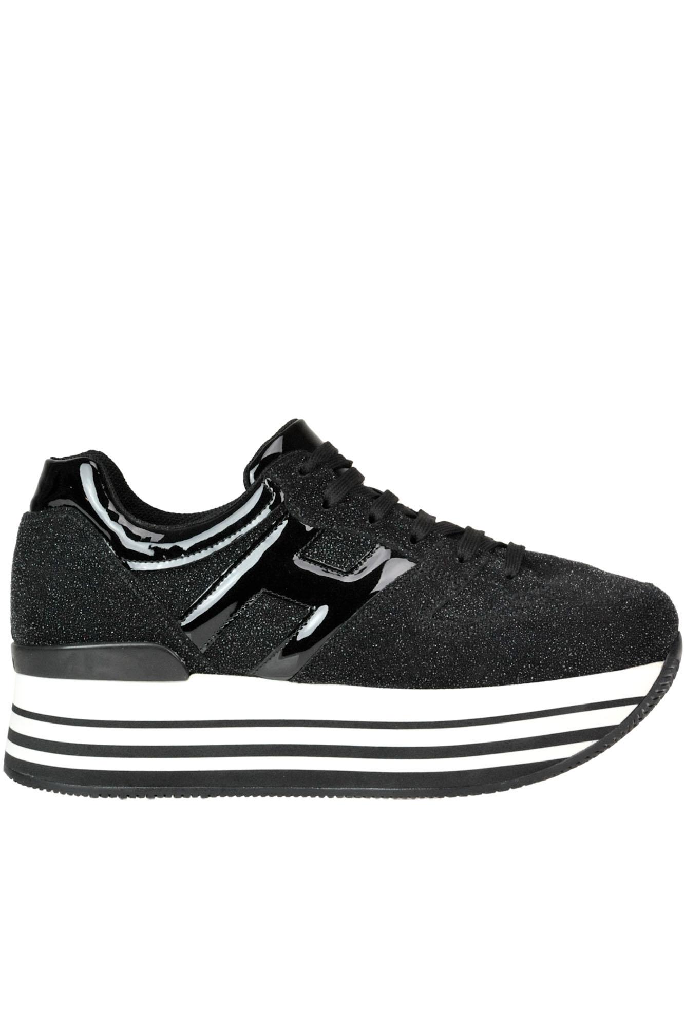 d872967671 Hogan 'Maxi 222' Wedge Sneakers In Black | ModeSens