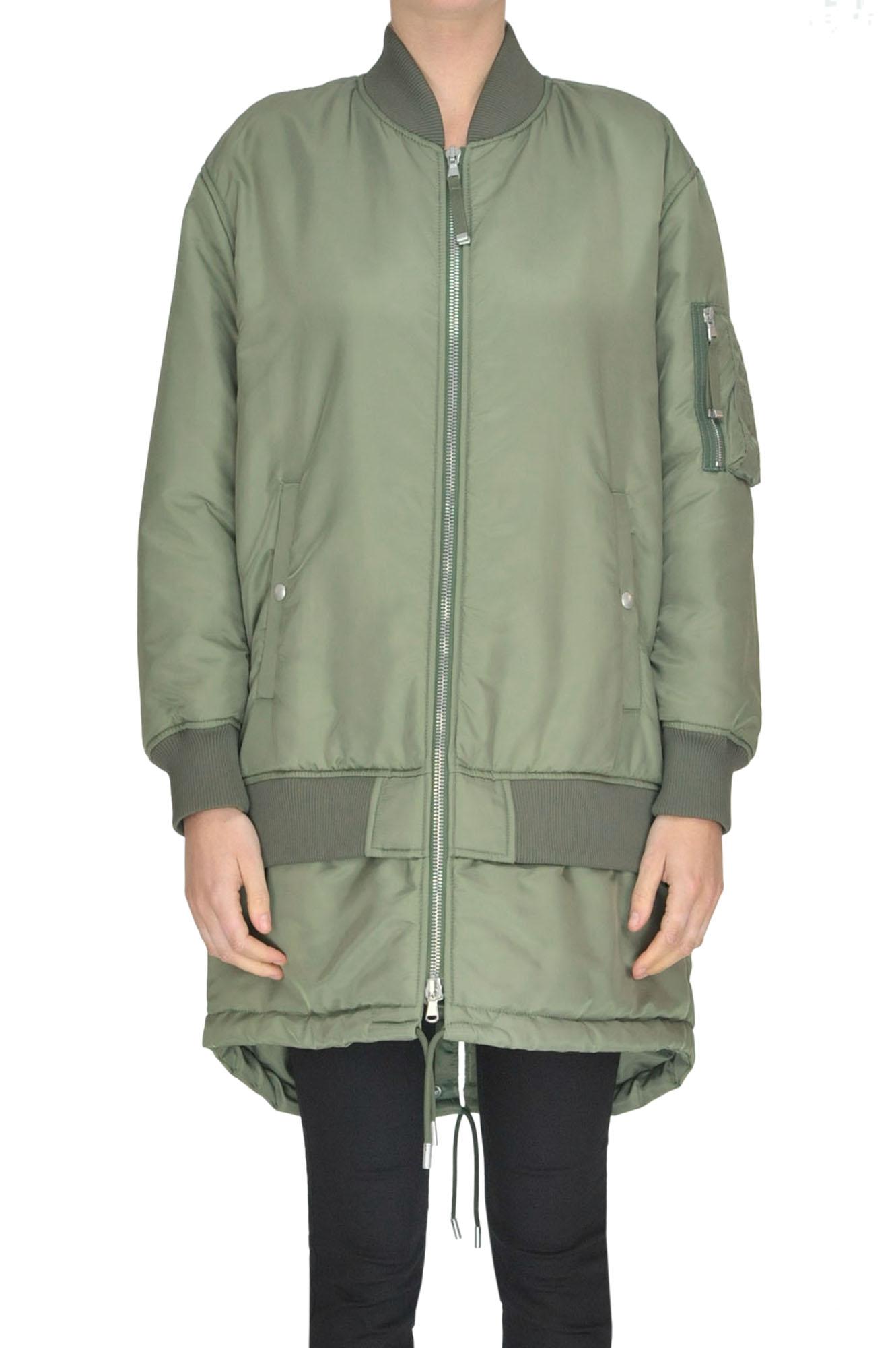 Bomber Coat in Olive Green