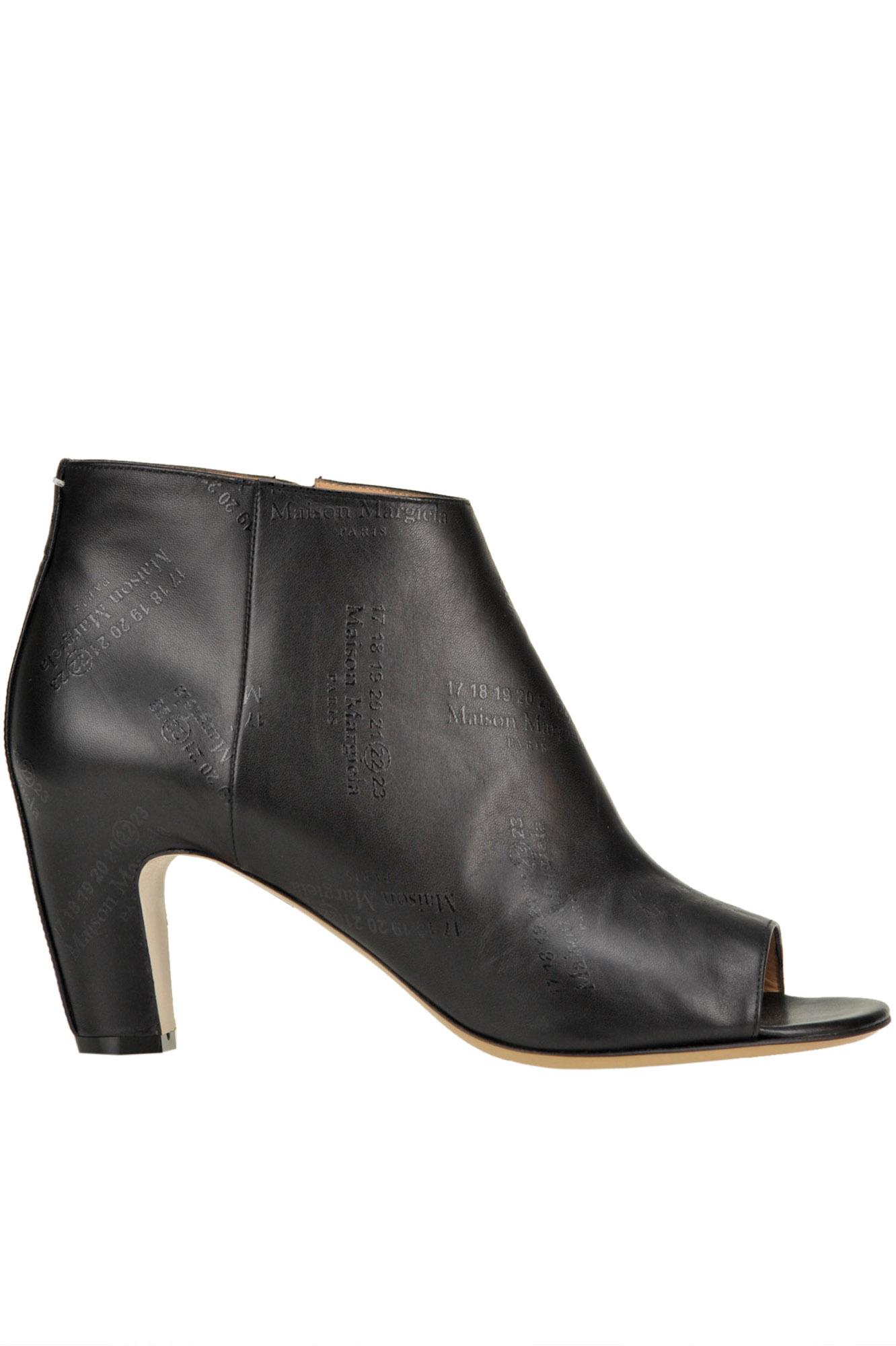 Maison Margiela Black Leather Logoed