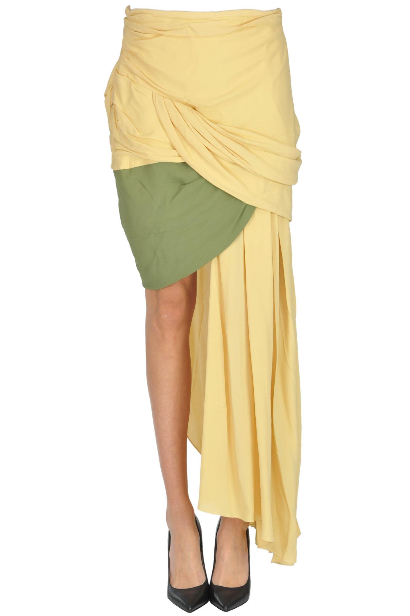Jacquemus 'La Jupe Saaf' Asymmetric Skirt In Yellow