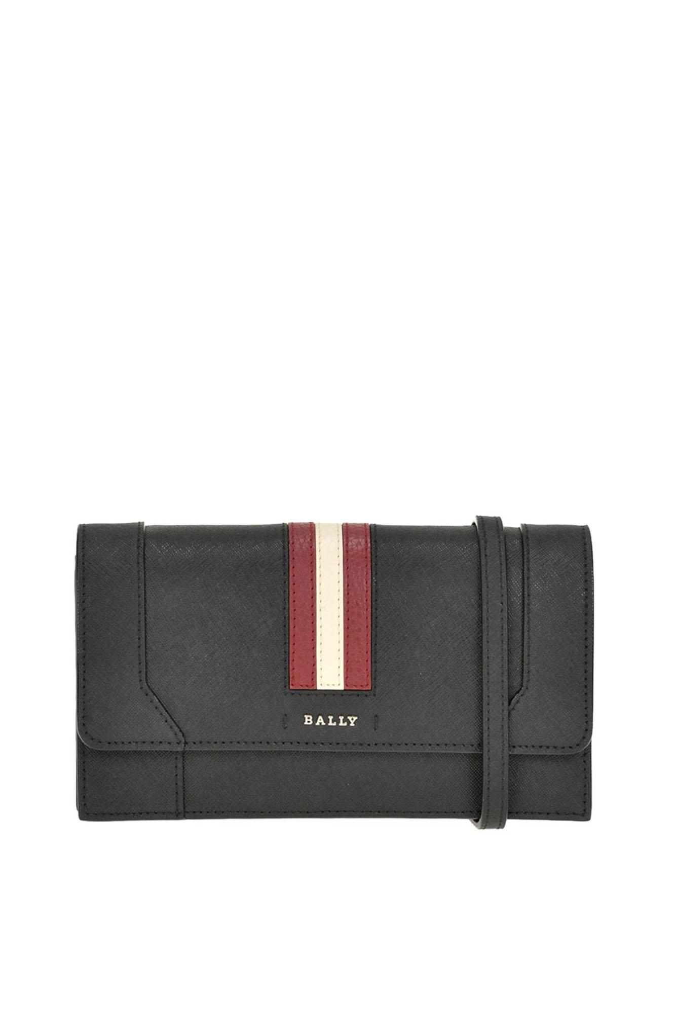 Stafford Leather Clutch in Black