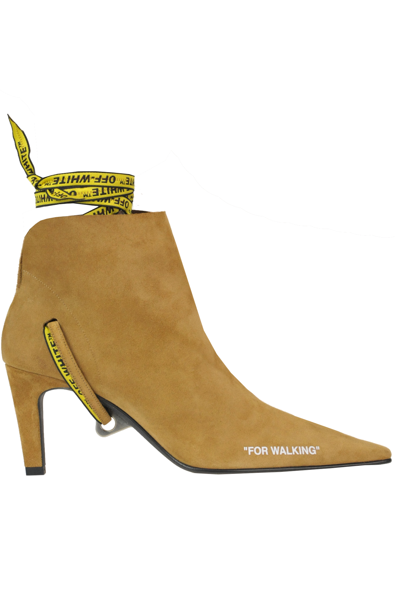 Off-White 'For Walking' Suede Ankle-Boots In Light Brown