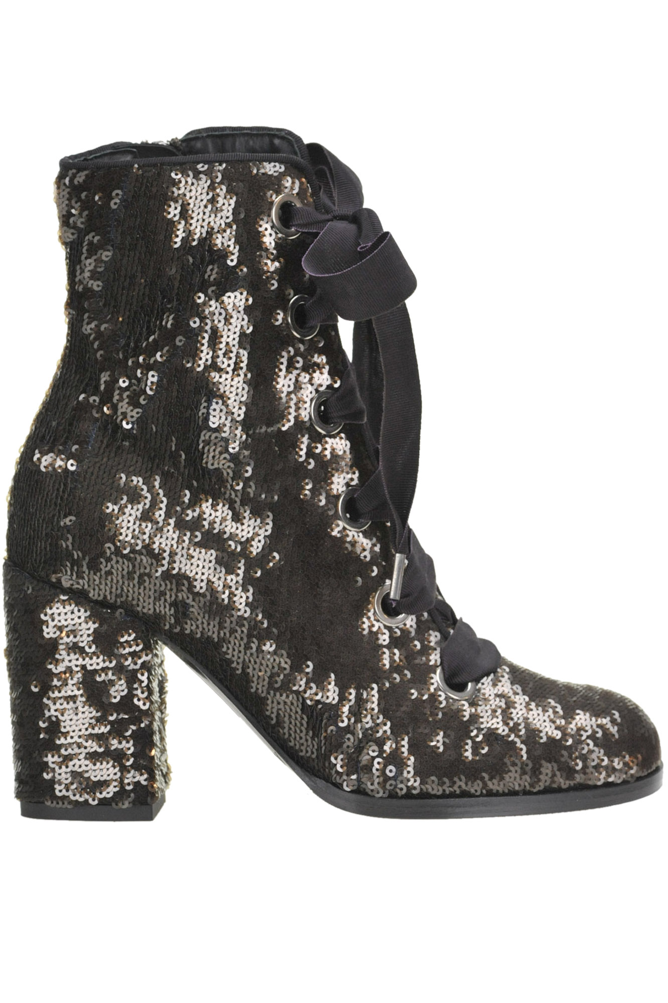 Alberto Gozzi SEQUINED LACE-UP BOOTS