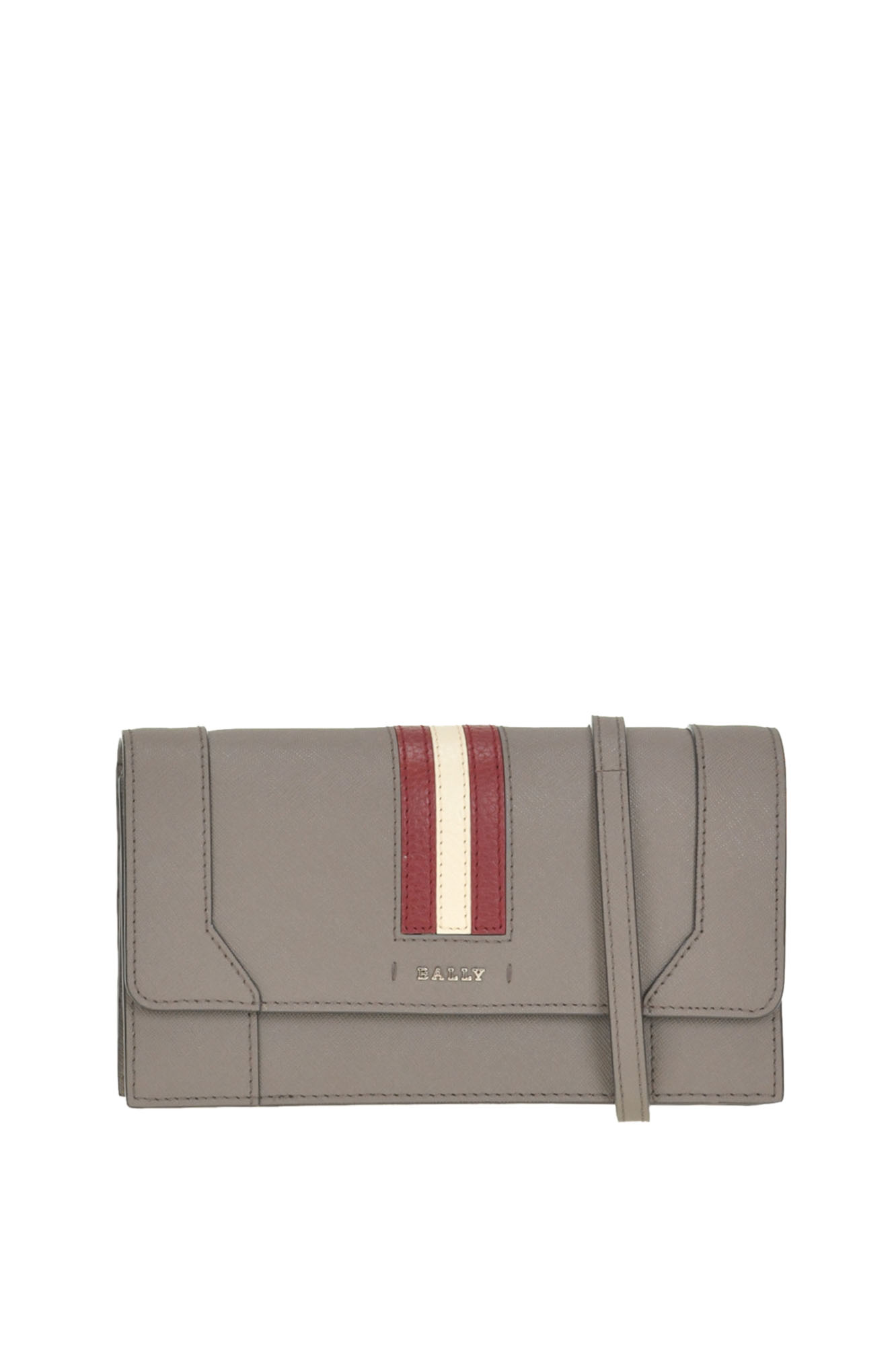 Stafford Leather Clutch in Dove-Grey