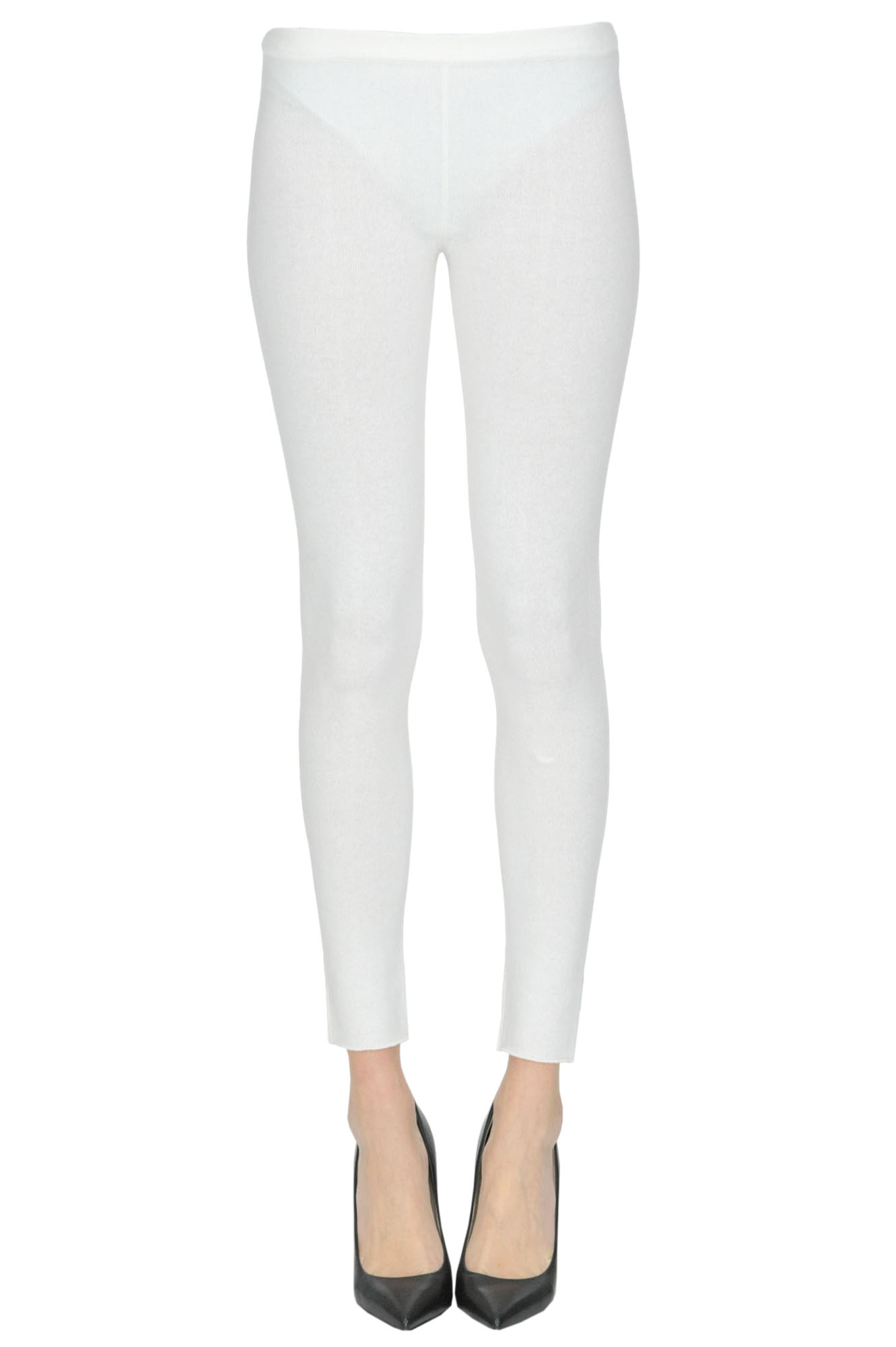ALYKI Cashmere Leggings in White