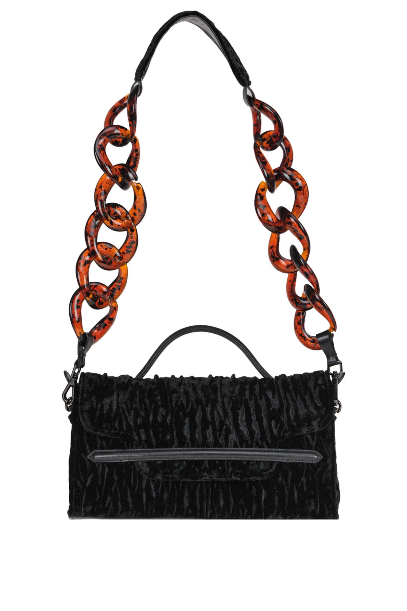 Zanellato Nina S Soubrette Velvet Bag In Black