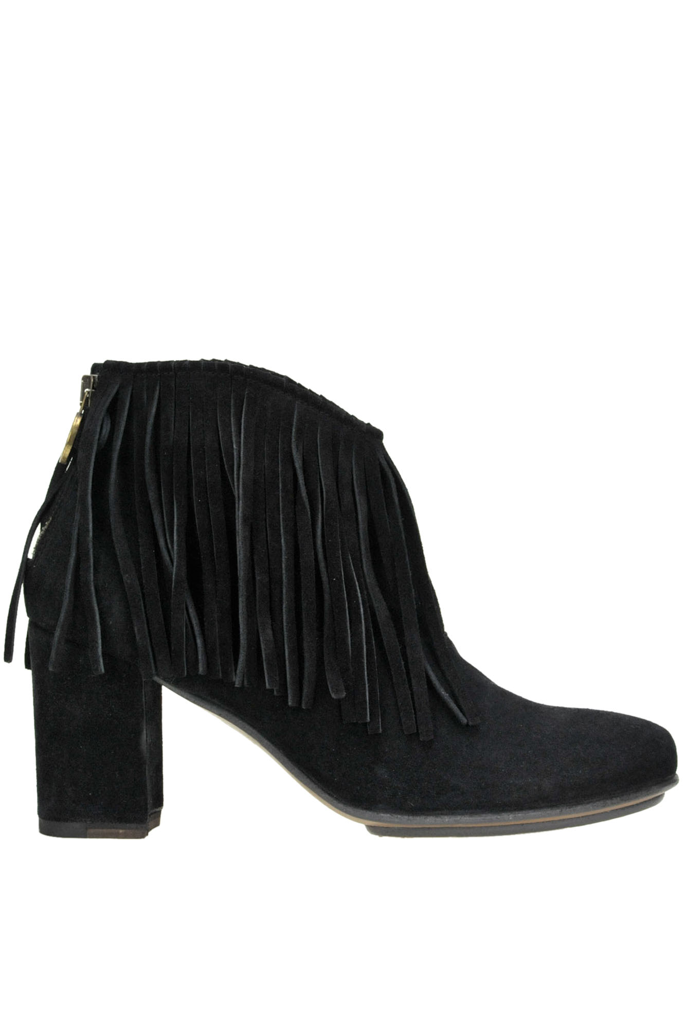 Fiorentini + Baker IFFA FRINGED SUEDE ANKLE BOOTS