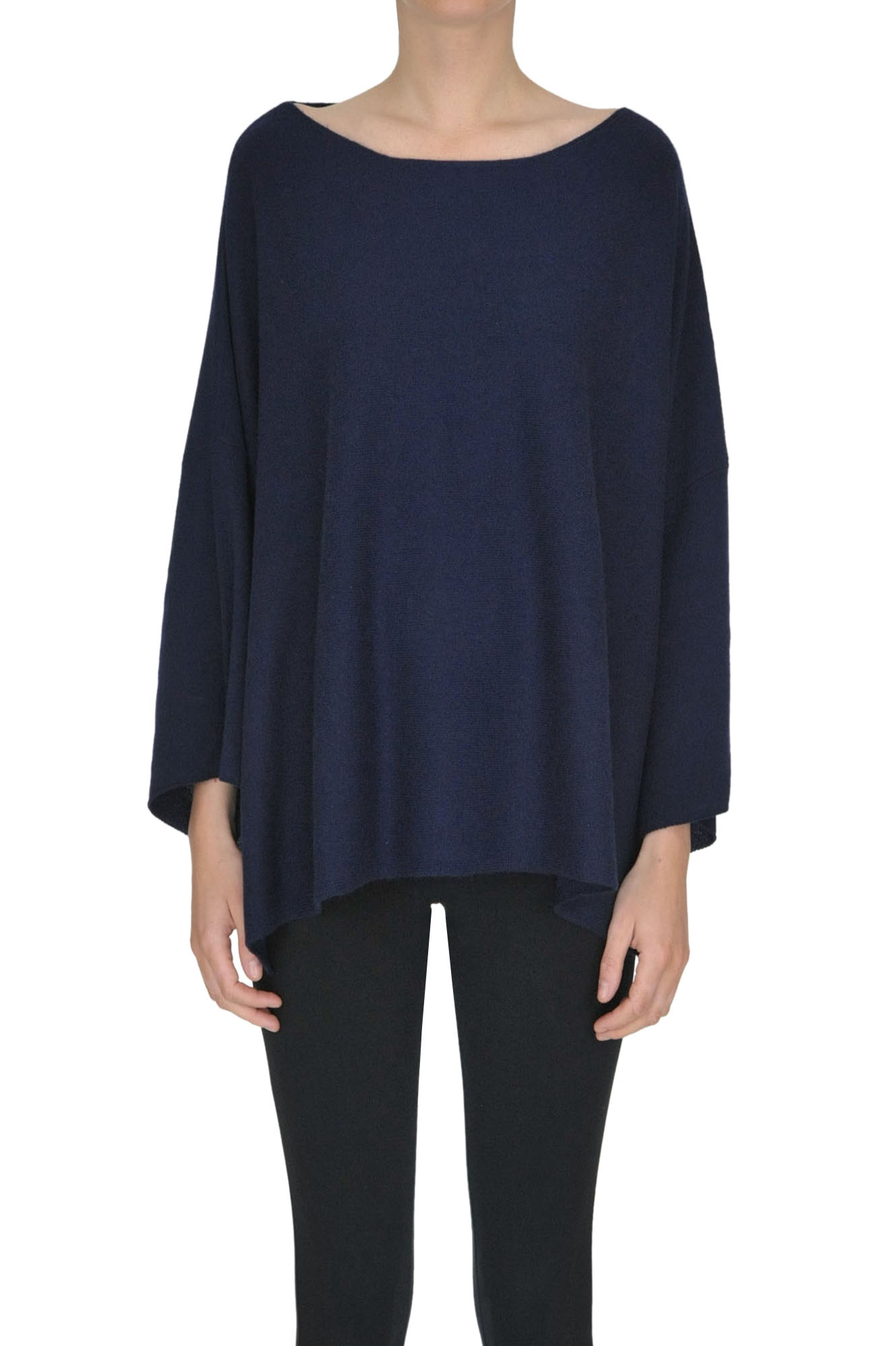 ALYKI Cashmere Pullover in Navy Blue