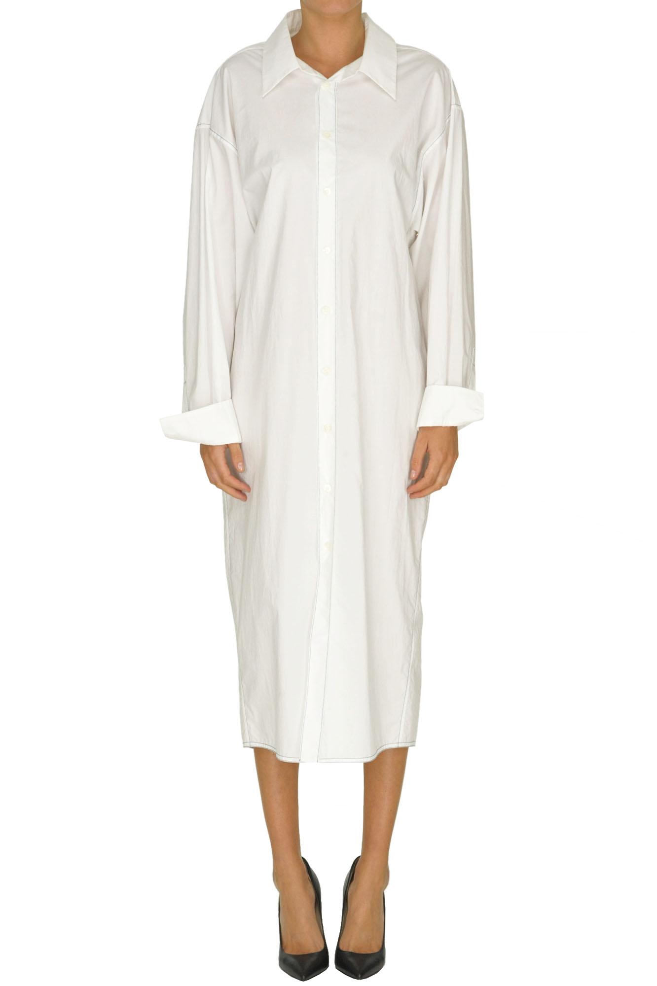 c6ff71842b Marni Oversized Shirt Dress In White